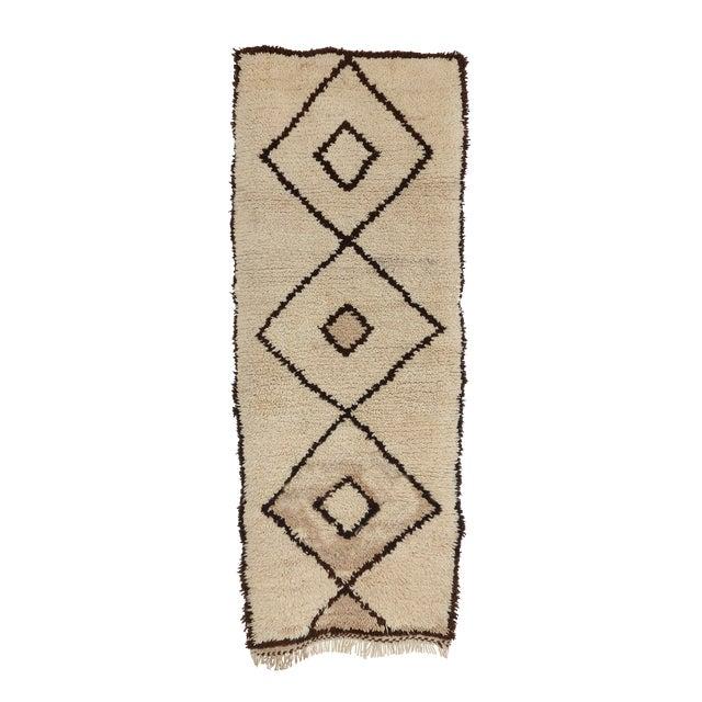 "Vintage Azilal Moroccan Berber Runner- 2'7"" x 6'7"" - Image 1 of 4"