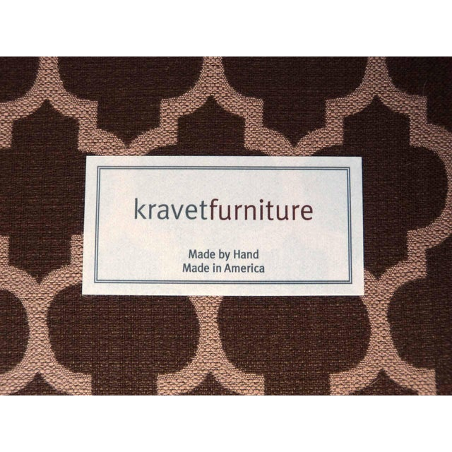 Image of Kravet Furniture Upholstered Lounge Chairs With Wood Frame - A Pair