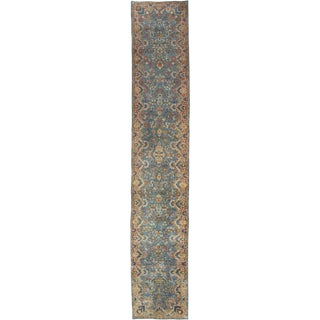 "Vintage Kirman Persian Runner - 17'5"" x 2'10"""