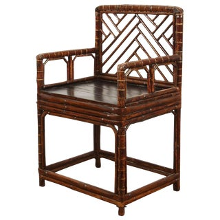 19th Century Chinese Bamboo Arm Chair