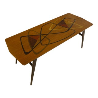 Fabry Mid Century Marquetry Cocktail Table