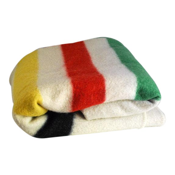 1940s Striped Wool Camp Blanket - Image 1 of 7