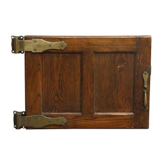 Antique Wooden Refrigerator Door