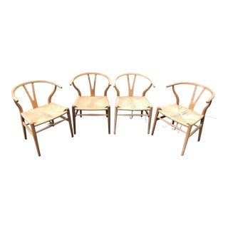 Original Vintage Hans Wegner Wishbone Chairs - Set of 4