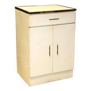 Mid-Century White Metal Storage Cabinet