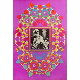 """1967 Peter Max """"Ben Turpin Cameo"""" Print"""