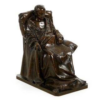 "Vincenzo Vela Bronze Sculpture Replica, ""Last Days of Napoleon"""