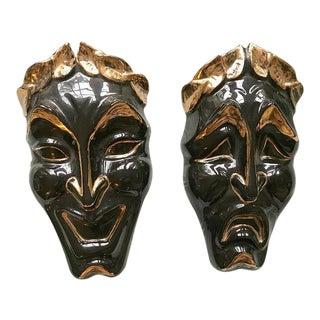 Jamar Mallory Comedy & Tragedy Wall Pocket Masks - A Pair