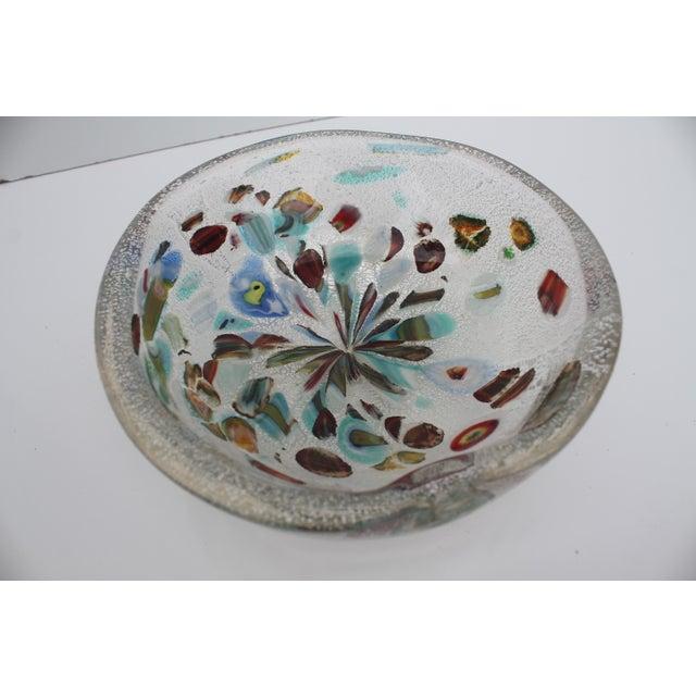 Image of Murano Glass Millefiori Bowl