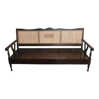 Antique Cane Back Bench