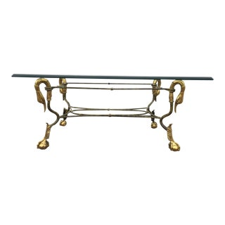 Brass & Glass Goose Head Coffee Table