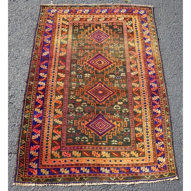 Antique Anatolian Rug- 2′10″ × 4′ - Image 2 of 3