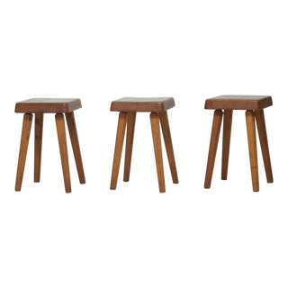 Three Pierre Chapo Stools