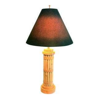 Vintage Regency Style Bamboo Lamp