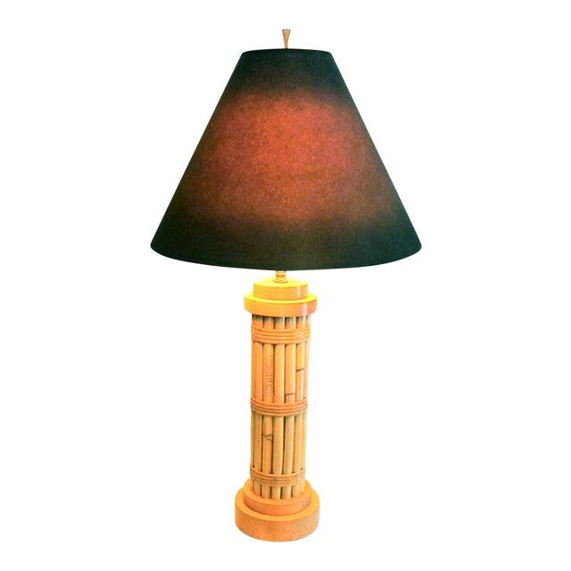 Vintage Regency Style Bamboo Lamp - Image 1 of 8