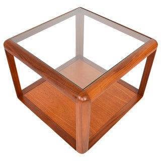G Plan Square Teak & Glass Coffee Table