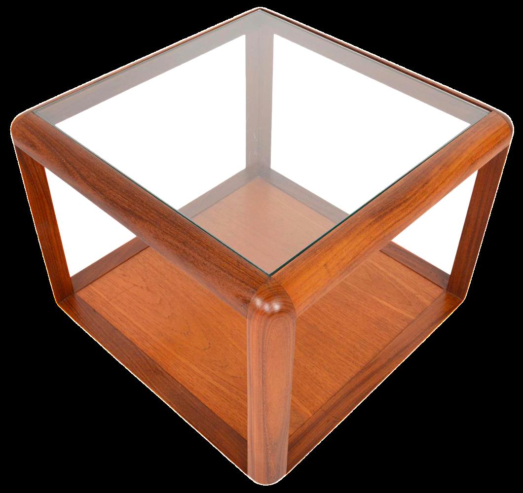 g plan square teak & glass coffee table   chairish