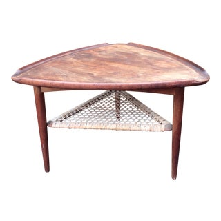 Danish Modern Triangular Shaped Teak Table