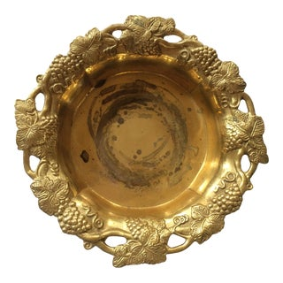 Traditional Brass Mottahedeh Design Wine & Champagne Coaster