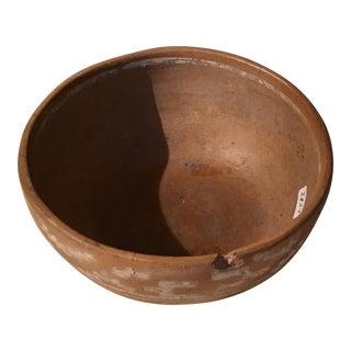 South American Tan Pottery Bowl