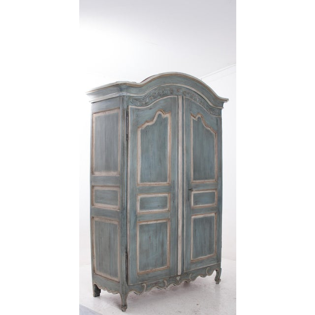French Early 19th Century Painted Cherry Armoire - Image 6 of 10