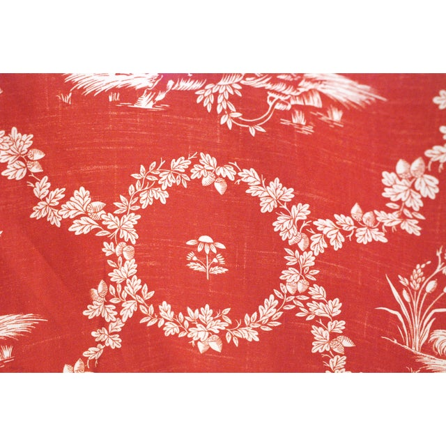 Pierre Deux Red Toile Linen Fabric- 10 Yards - Image 2 of 6