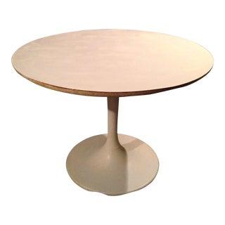 Mid Century Modern White Aluminum Circular Table