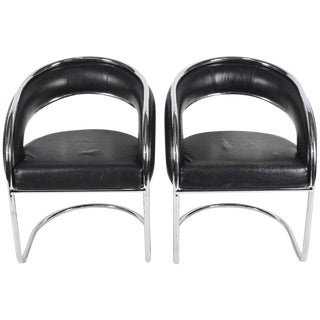 Pair of Anton Lorenz for Thonet Lounge Chairs