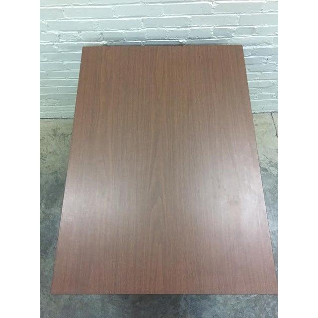 Hoosier Mid-Century Modern Walnut Desk - Image 7 of 10