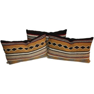 Group of Three Chinle Navajo Weaving Pillows