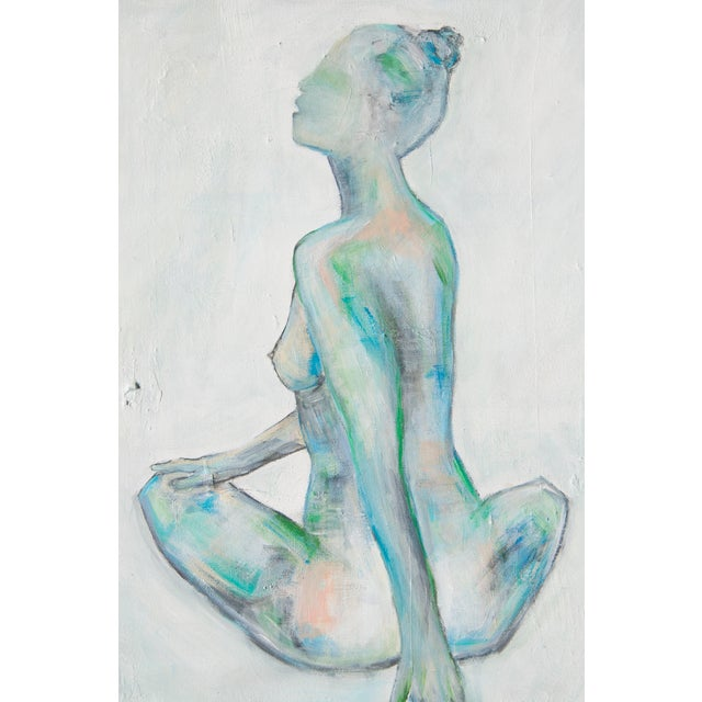 Waiting, Nude Abstract Painting by Emily Powell - Image 1 of 4