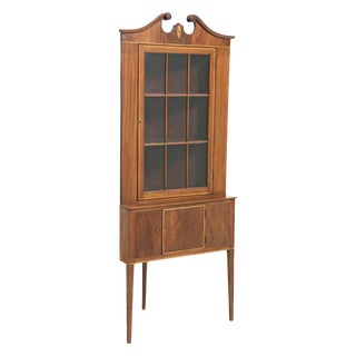 Pair of Federal Style Corner Cabinets