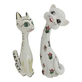 Mid-Century Italian Cat Figures - A Pair