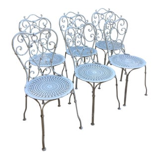 white wrought iron patio chairs set of 6