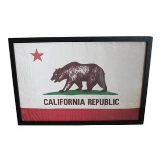 Framed California Republic Flag