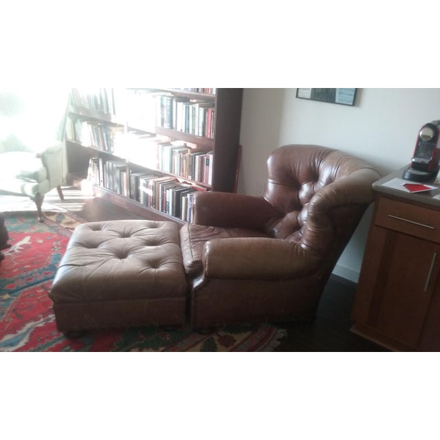Ralph Lauren Writers Chair & Ottoman - Image 4 of 4