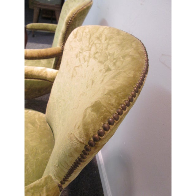 Matching Upholstered French Arm Chairs - Pair - Image 7 of 11