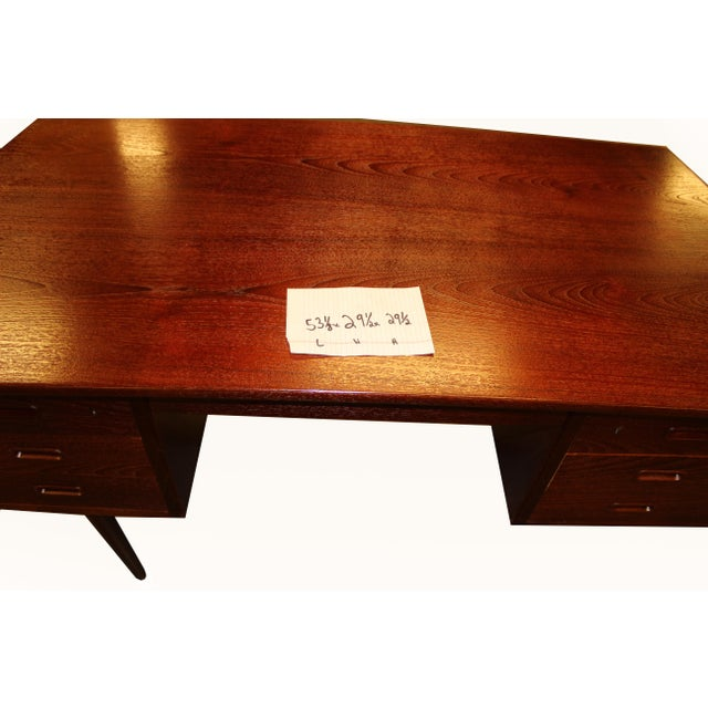 1960s Danish Mid-Century Rosewood Desk with Curved Top - Image 8 of 8