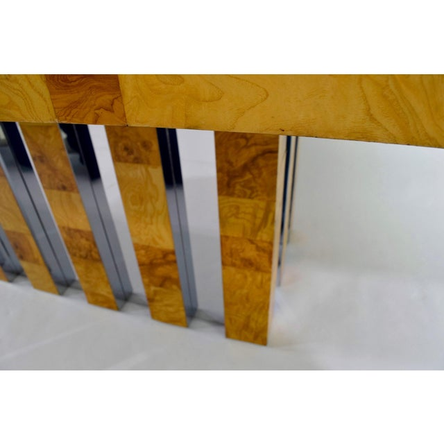 Paul Evans Burl Wood and Chrome Cityscape Dining Table - Image 3 of 10