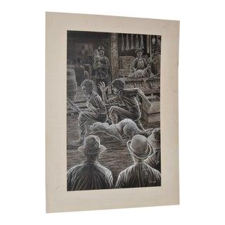 1980 Peter Thorpe Jack London Book Illustration
