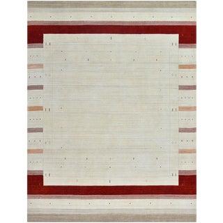 Geometric Gabbeh Wool Rug - 6' x 9'