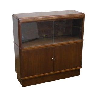 Vintage Hale Walnut Stacking Bookcase Cabinet
