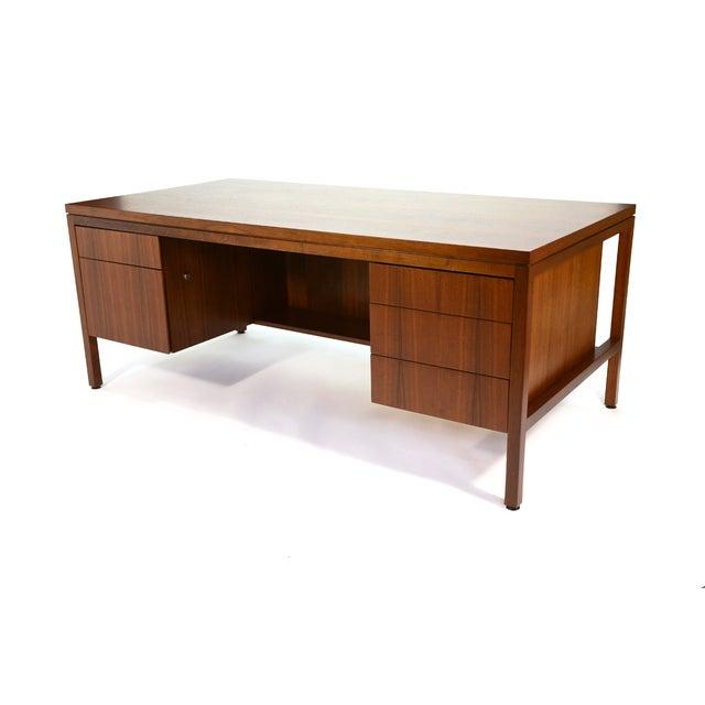 Jens Risom Style Walnut Executive Desk - Image 2 of 5