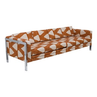 A Milo Baughman attributed Three Seater Sofa 1970s