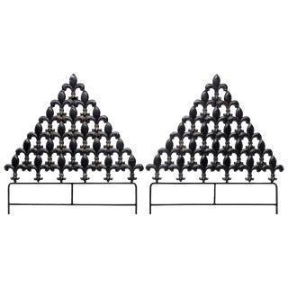Fleur-de-Lis Twin Headboards - A Pair