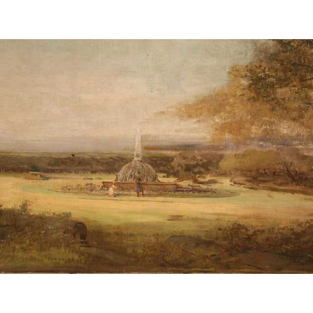 """Amazing 9'8"""" Original Antique French Panoramic Oil Painting on Linen - Image 5 of 10"""