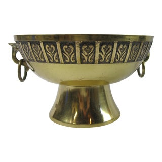 Brass Ring Handled Urn