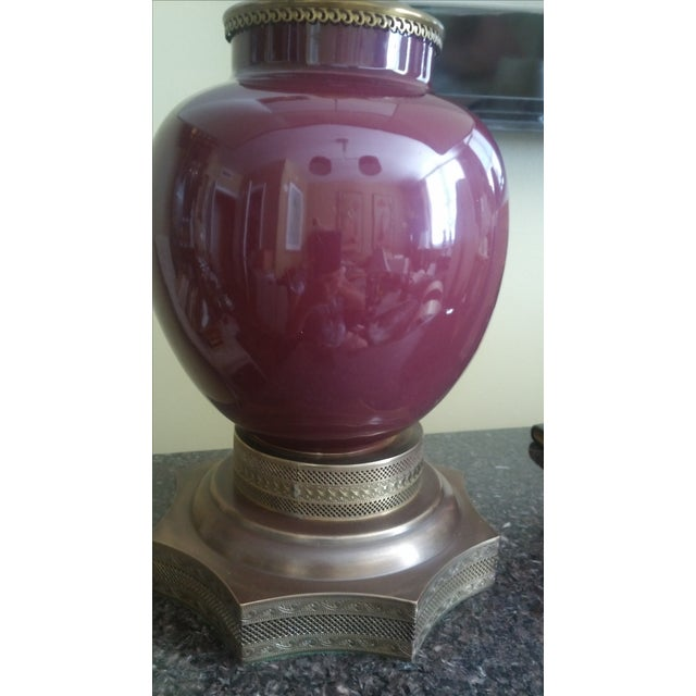 Image of Antique Sang De Boeuf Red Lamps - A Pair