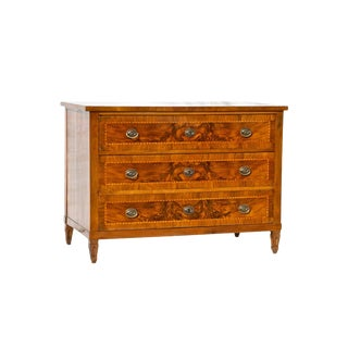 Italian Neoclassical Three Drawer Commode