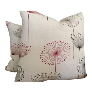 Sanderson Pillows in Embroidered Dandelion Clocks Print - a Pair